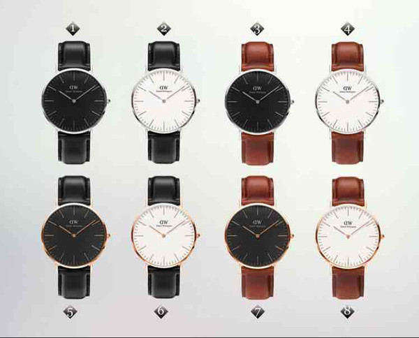 New fashion Uomo donna Daniel Wellington orologi 40mm Uomo orologi 36 Donna Orologi DW Quartz Orologio Relogio Montre Femme