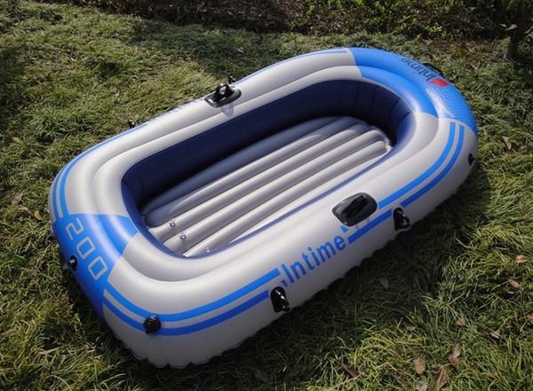 1/2 Persona Gonfiabile Kayak Canoa 55 / 90kg Canottaggio Air Boat Doppia Valvola Drifting Immersioni Gommone Barca da pesca Boa