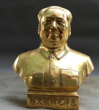 Китайский Бронзовый Дракон Воин Бог Гуань Гун Юй Держать Меч Статуя Половина Тела