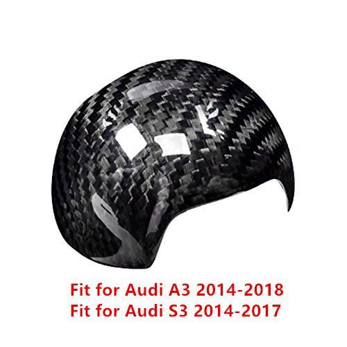 For Audi A3 S3 2014-2018 1PC Carbon Fiber ABS Chrome Car Gear Shift Knob Frame Cover Trim Moldings Car Styling Auto Accessories