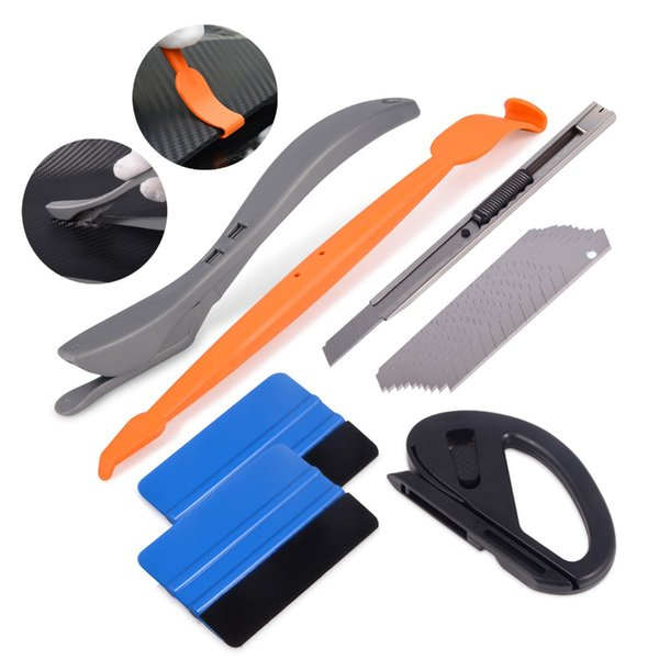 EHDIS Carbon Vinyl Film Car Sticker Glue Remover Accessories Auto Car Wrap Squeegee Scraper Cutter Knife Window Tint Tools Kit