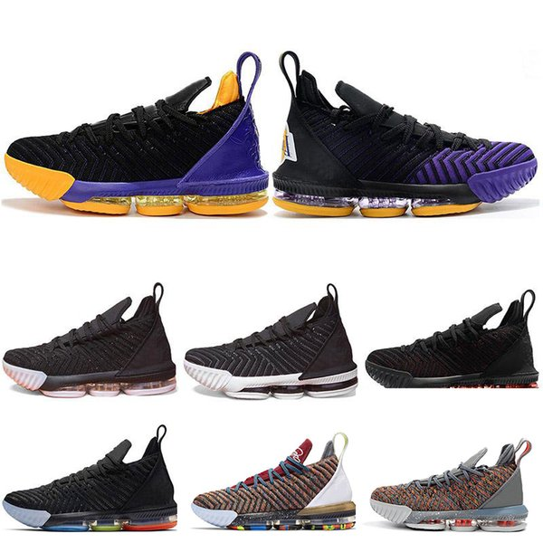 Mens Basketball Shoes 16 WHAT THE King I Promise Court Viola Triple Nero Fresh Bred Oreo 16s Uomo Sport Sneakers 7-12