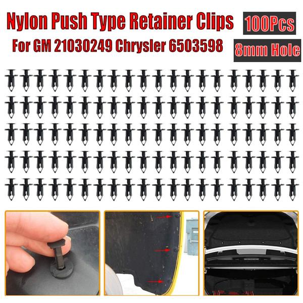 100 Nylon Push Type Retainer Clips 21030249 Ford /& Chrysler 6503598 For GM