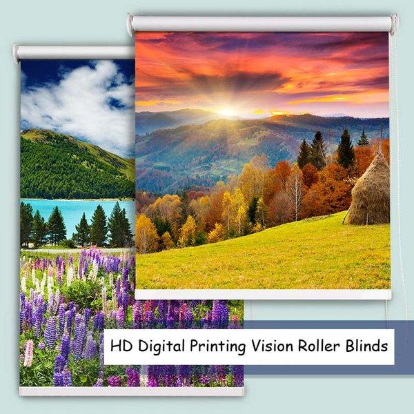 Tende a rullo ad alta definizione in pastello per stampa digitale ad alta definizione in stile pastello per tende da studio per ufficio