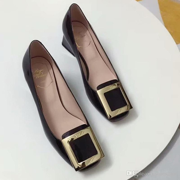 New limited skid-proof wear-resistant single shoes fashion designer classic 5A high quality women's shoes wholesale at low prices numbe