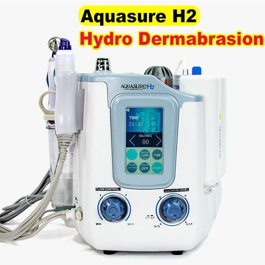 Aquasure H2 3 en 1 Hydro Microdermabrasion Hydrafacial Deep Cleaning BIO Microcurrent Hydro Peeling Facial Cuidado de la piel Máquina