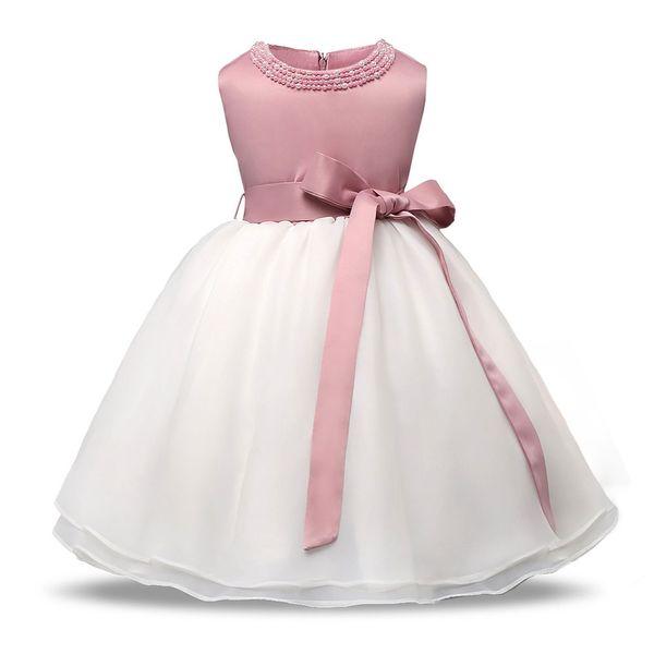 Compre Highqualit Vestido Rosa Para A Menina De Manga Comprida Vestidos De Batismo Branco Menina Festa De Bebê Infantil Primeiro Aniversário Desgaste