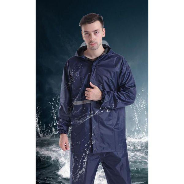 Yağmurluk Yağmur Pantolon Takım Elbise Tek katmanlı bölünmüş Yağmurluk Polyester Su Geçirmez Yetişkin Balıkçılık Sürme Yürüyüş için yağmurluklar LJJZ28