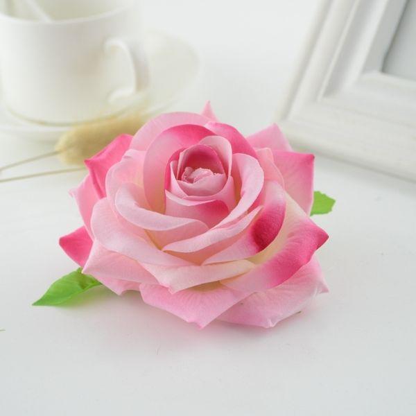 5pcs Quality Silk Roses Head Handmade Diy Wedding Gift Box Scrapbooking Car Bride Bouquet Decorative Artificial Flowers For Home