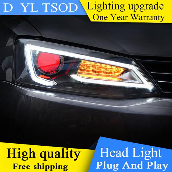 Car Styling For Vw Jetta Headlights 2012 2018 Led Headlight For Jetta Head Lamp Led Daytime Running Light Led Drl Bi Xenon Hid Canada 2019 From