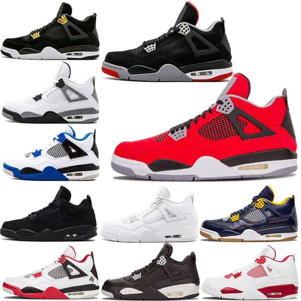Angry bulls 4s red Bred IV Oreo Raptors Travis Scott GS Motorsport Fire Red Pure Money Black Cat mens Athletic basketball shoes 4s