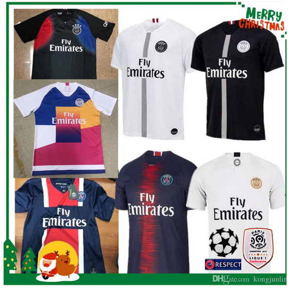 2019 NEW 2019 PSG Neymar Jr MBAPPE CAVANI DI MARIA Football Soccer Shirt  SILVA 18 19 Adult Man Paris Home Away Sports Jersey From Kongjunlin c9a4c316c