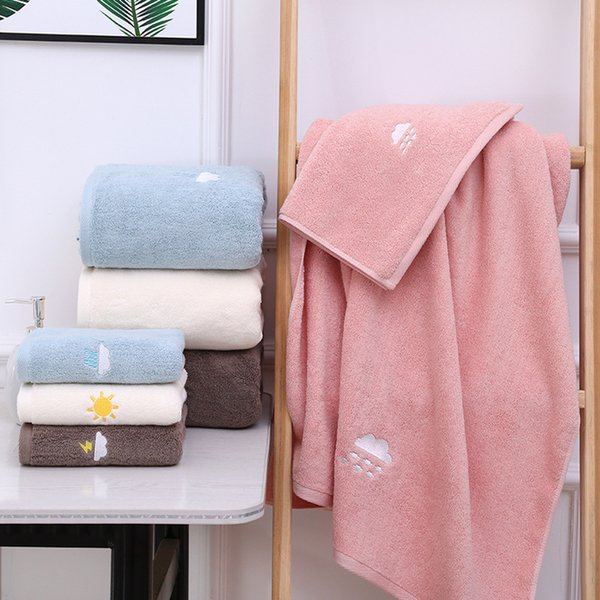 Factory Price 100% Cotton Pure Color Home Hotel Swimming Grooming Spa Salon Bath Towel Cotton Embroidery Bath Bathrobes