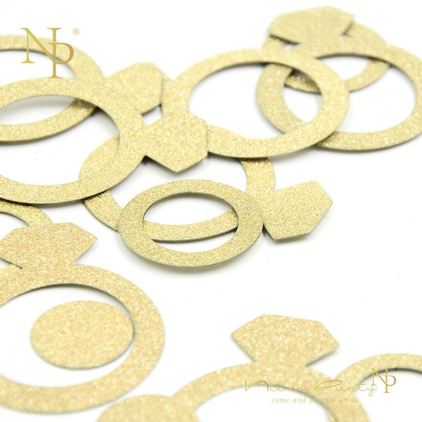 Nicro 14g/bag Gold Diamond Ring Confetti for Birthday Wedding Valentine Table Scatter Decor Party Decoration #Con11