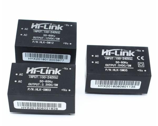 10pcs 220v 5V AC - DC isolated power supply module, HLK-5M05/HLK-5M12/HLK-5M03 switching step-down 5w power module freeshipping
