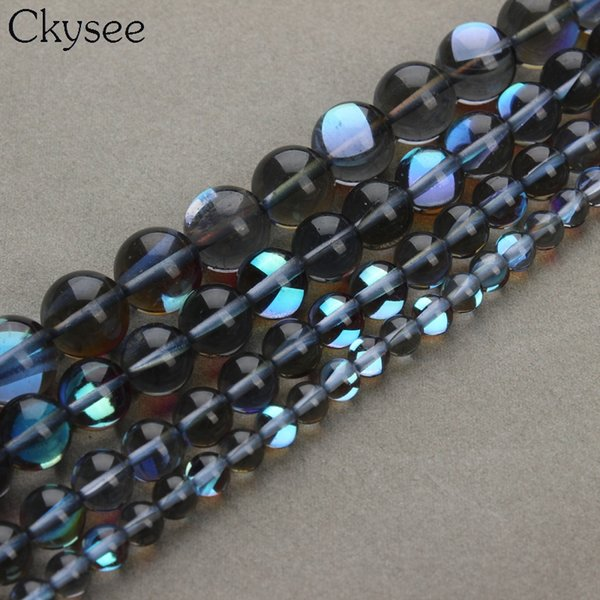 Ckysee Wholesale New Handmade Dia 6mm 8mm 10mm 12mm Round Crystal Glass Loose Beads Ball for Jewelry Making DIY Strand Bracelet