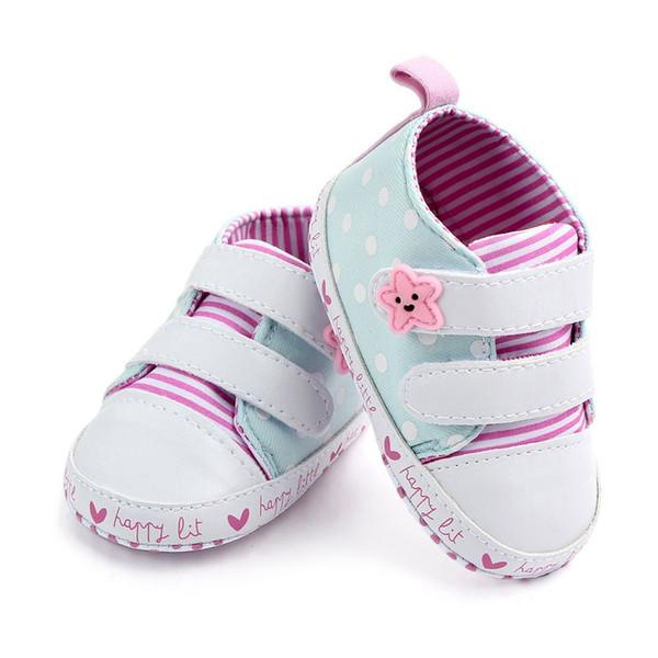 MUQGEW обувь зима новорожденных девочек мальчиков одежда новорожденных девочек полосатый Звезда точка холст первые ходунки мягкой подошвой Обувь