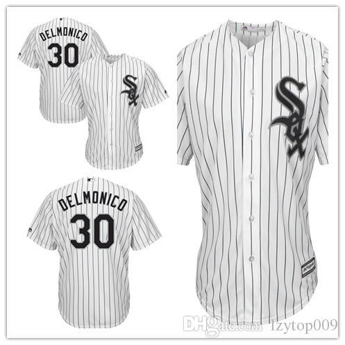 Men's White Sox 30 Nicky Delmonico Majestic White Home Cool Base Player Chicago Jersey