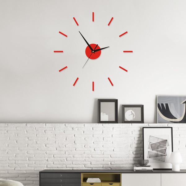 Moderno reloj de pared de DIY interior romana reloj de pared de la etiqueta engomada 3D Home efecto del espejo 4 Estilo pegatinas de pared 3D de alta calidad