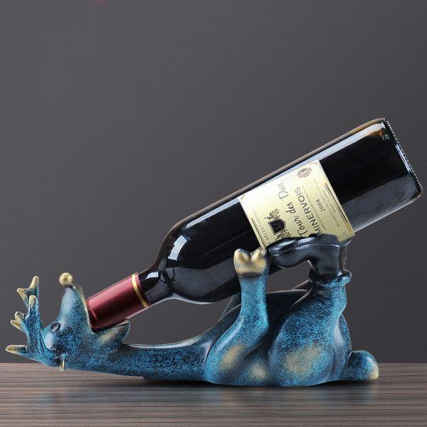 Resina Europea borracho ciervos vino estantes de la botella de vino Salón Oficina decoración del equipamiento casero modernos artes del sostenedor