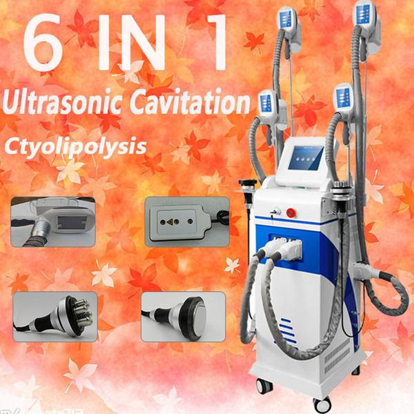 Cryo professionnel Handpieces 4 poignées de taille pour geler le gros corps de perte de poids amincissant la cryolipolyse amincissant la machine