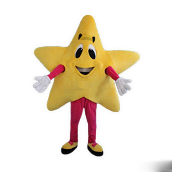 2019 Factory direct sale Yellow five-pointed star Mascot Costumes Cartoon Character Adult Sz
