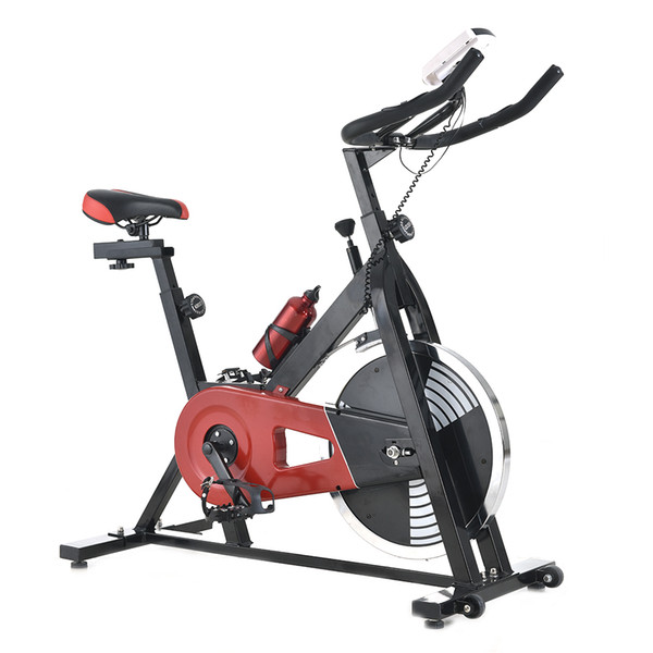 Indoor Exercise Device High-strength Exercise Bicycle Black & Red