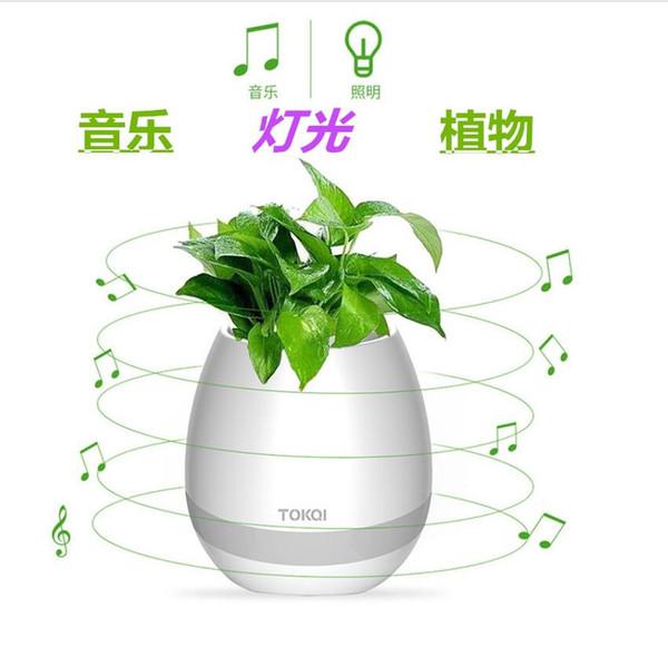 Kablosuz Bluetooth Hoparlör akıllı Singing Renkli LED Gece Işık ile müzik Saksı