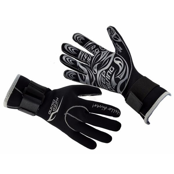 3MM Outdoor Neoprene Scuba Dive Gloves Snorkeling Equipment Anti Scratch Keep Warm Wetsuit Material Winter Swim Spearfishing H5