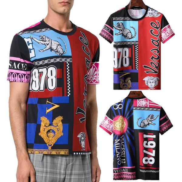 2019 neue Männer kurze T-Shirt Mode Buchstaben Brief Druck Baumwollfutter Trend der personalisierten M-3XL Europe Männer Baumwolle T-Shirt
