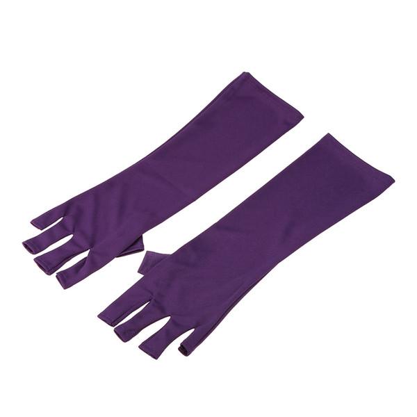 1 Par Anti UV Luvas de Luz UV / Lâmpada Luvas de Radiação Nail Art Luvas de Proteção Manicure Prego W4356