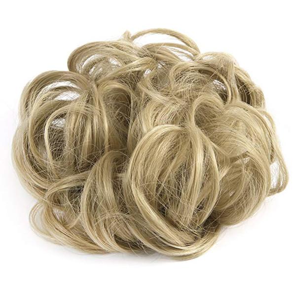1 Adet Dalgalı Kıvırcık Dağınık Saç Bun Uzantıları Scrunchie Saç Bun Updo Postiş Şerit At Kuyruğu Uzantıları Kadınlar Kızlar Için (