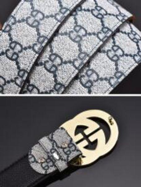 Diseñador de lujo de alta calidad de la perla de la hebilla4 Correa Con cinturón de caja Cinturones de moda Cinturón de cuero genuino para los hombres Jeans Vestido de las mujeres Cinturones de cintura