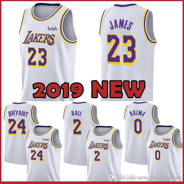 d7ba33040e8 Signature 8 Kobe 24 Bryant Edition Jersey Kyle 0 Kuzma Los Angeles Lebron  23 James Lonzo 2 Ball Brandon 14 Ingram Basketball