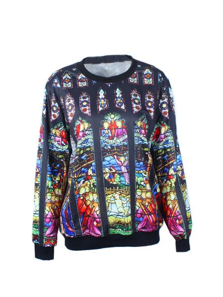 Hommes Hoodies Notre-Dame de Paris Fashion Design Nouveau Pull Imprimer O-Neck Sweat-shirts Pour Menxxloffow