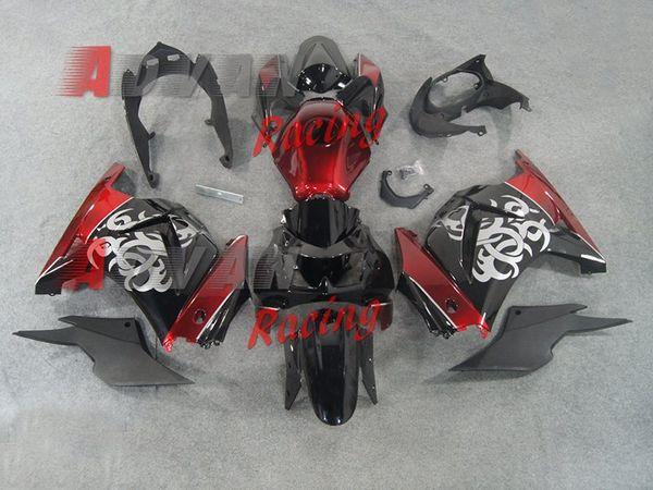 New Injection ABS Fairing kit for Kawasaki ninja250 2008-2015 EX250 ZX250R 2008 09 10 11 12 13 14 15 fairings +Tank cover custom red black