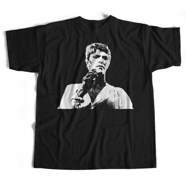 David Bowie on Stage Picture T-Shirt from Old Skool Hooligans Glam Rock funny 100% Cotton t shirt