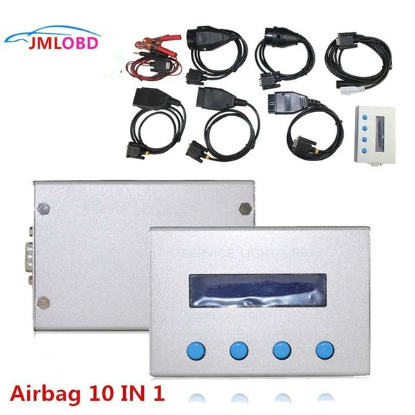 NEW 10 in 1 Airbag Reset Tool and Service Light Oil Reset Tool for Multi-brand Cars Mileage Correction Free Shipping