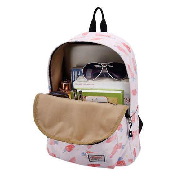 Fruit Backpack Printed Canvas Backpack Laptop Bag Girl School Shoulder Daypack Women Travel Rucksack Bags Women
