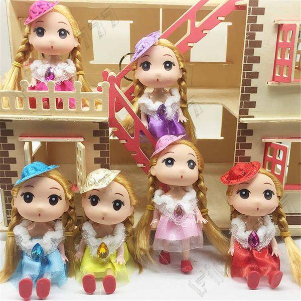 12cm confused doll keychain cute silicone doll children's toys wedding dolls beautiful doll pendant for girls lol