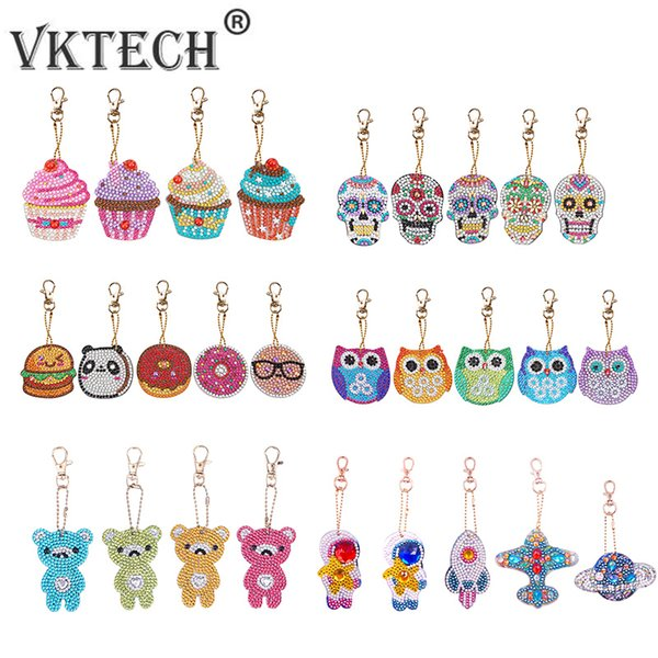 top popular Home & Garden 5pcs DIY Full Drill Special Shaped Diamond Painting Keychains Women Bag Pendant Jewelry Key Ring Embroidery Cross Stitch 2021