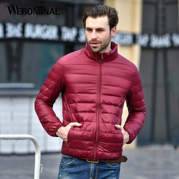 WEBONTINAL Autumn Winter Thin 90% White Duck Jacket Men Casual Ultralight Male Feather Jackets Coat Ultra Light Lightweight
