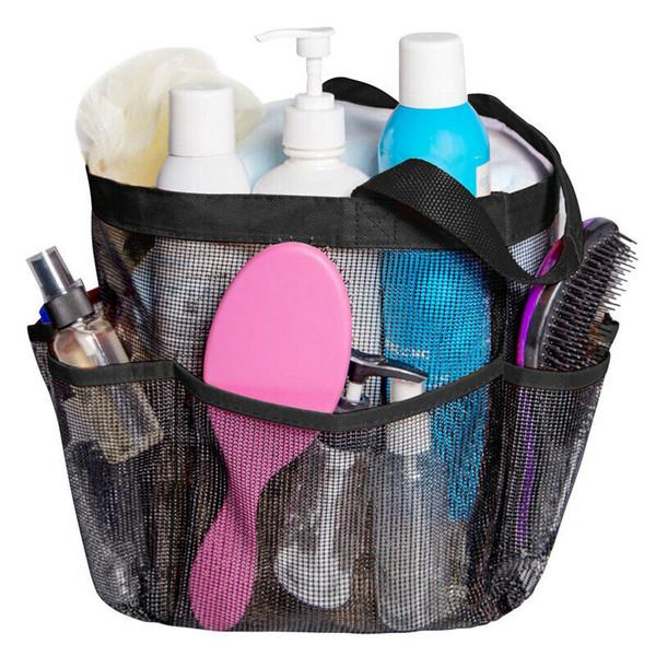 Çok Fonksiyonlu Mesh Duş Çanta Taşınabilir Tuvalet Organizatör Banyo Carry Bez