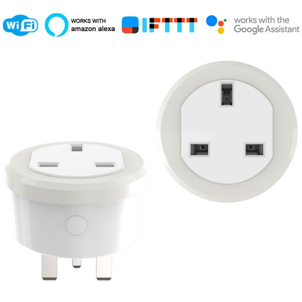 UK Smart Plug IFTTT Remote Control WiFi Switch Mini Socket Outlet with Timing Function Support Amazon Alexa Google Home
