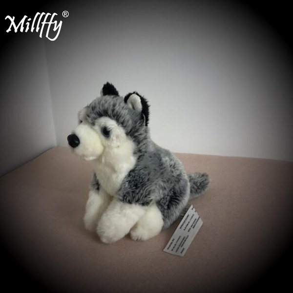 Millffy Realistic Peluche Husky Dog Lifelike Plush Puppy Stuffed Animal Doll for Kids Gifts
