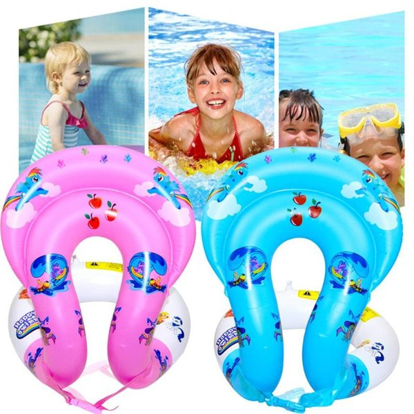 Dual Airbags Baby Swimming Rings Inflatable Float Seat Float Safety Tube Raft For Bathing Swim Seat Safety Water Toy