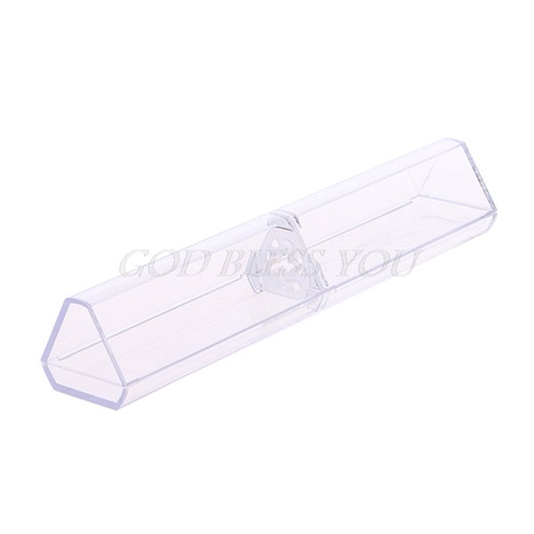 1PC Triangle box Pen boxes Plastic Transparent case Pen holder Gift for promotional crystal packaging box
