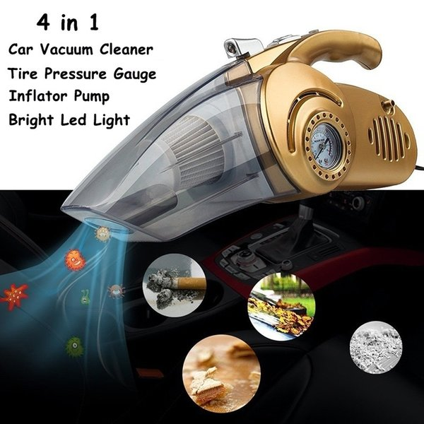 Portable 4 in 1 Handheld Car Vacuum Cleaner Super Suction Dust Car Cleaning Tools Wet Dry Dual-Use Dust Collector 12V