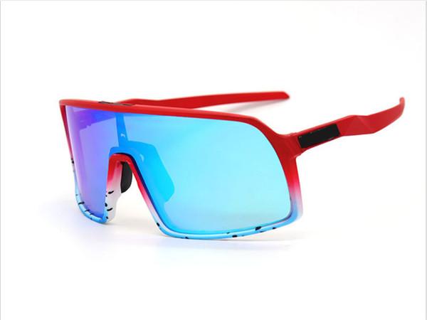 9406 красная рамка синяя линза