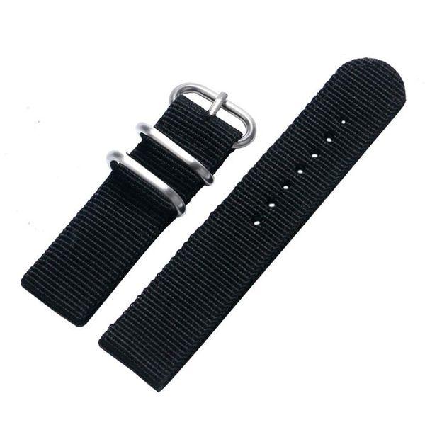 Nouvelle Arrivée 20mm 22mm Remplacement Bracelet de Montre En Toile Bracelet En Toile Hommes Femmes En Acier Inoxydable Boucle pour Bande
